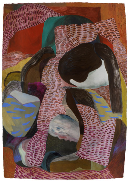 """""""A Select Few"""" 53"""" by 37"""" gouache and wc on India Khadi paper - 2014"""