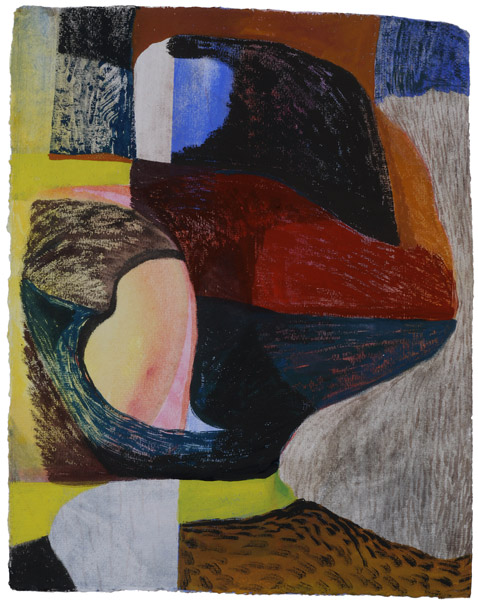 """17.5"""" by 13.5"""" gouache  and wc on India Khadi paper - 2014"""