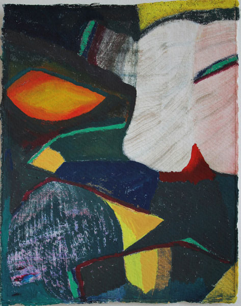 """10"""" by 8"""" gouache and wc on India Khadi paper - 2014"""
