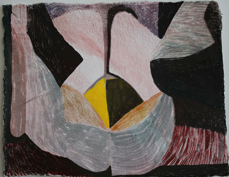 """8"""" by 10"""" gouache and wc on India Khadi paper - 2014"""
