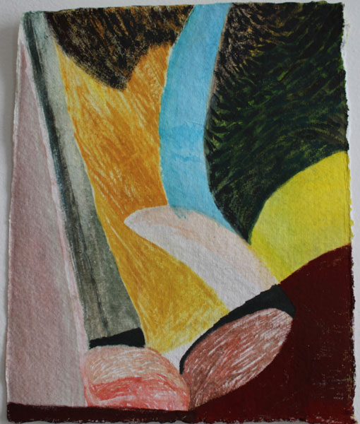"""11"""" by 9"""" gouache and wc on India Khadi paper - 2014"""